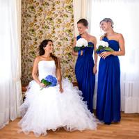 Hochzeitsvorbereitungen - die Braut mit Brautjungfern, Hotel Schiff, Murten