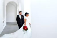 Brautpaar am Hochzeitstag, Kloster St Urban