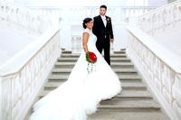 Brautpaar am Hochzeitstag, Kloster St Urban, Kanton Luzern,