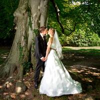 Brautpaar mit Baum im Schadaupark, Thun