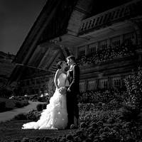 Brautpaarfoto im Emmental, Autumn wedding in Eggiwil, Switzerland