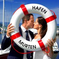 Brautpaarfoto am Hafen in Murten