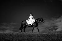 Braut am Pferd, Gurten, Bern.